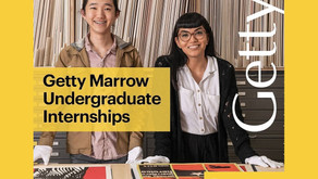 Applications Open: 2021 Getty Marrow Undergraduate Summer Internship
