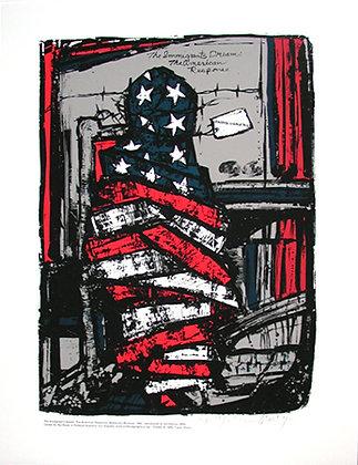 """The Immigrant's Dream"" by Malaquías Montoya"