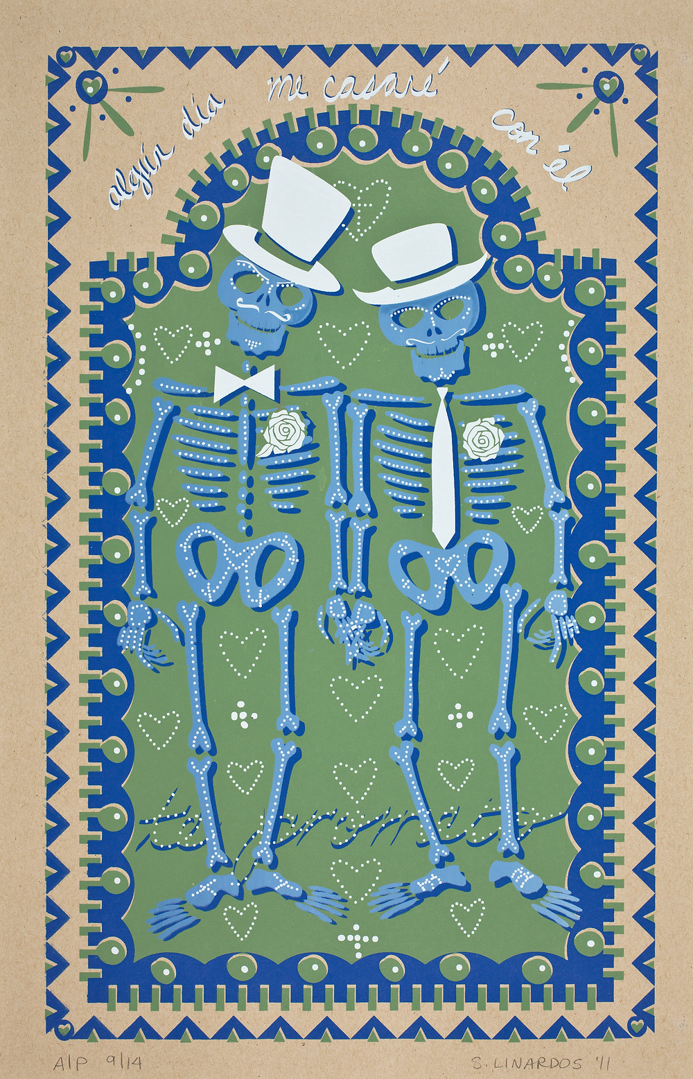 """""""Algún Día Me Casaré con Él"""" Stephanie Linardos, Silkscreen, 2011"""