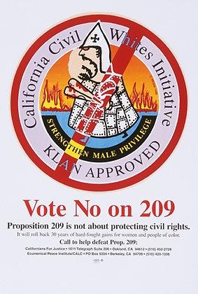 """Vote No On 209"" by Doug Minkler"