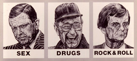 """""""Sex Drugs Rock & Roll"""" by Robbie Conal"""