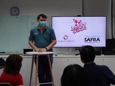 """""""Let's gift for a reason"""" initiative                                   by SAFRA Toa Payoh Club"""