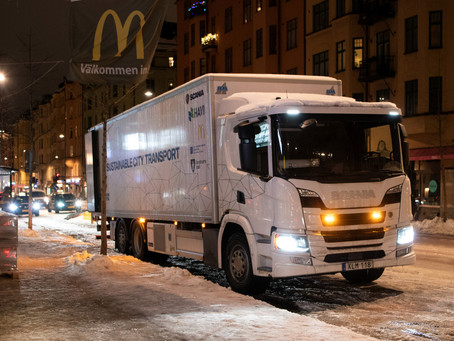 Hybrid truck enables smart night-time deliveries
