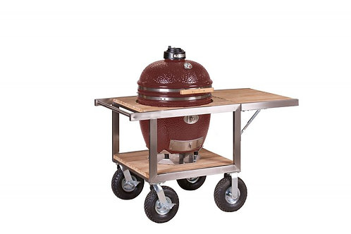 Monolith Classic Barbecue Buggy + zijtafel - Rood