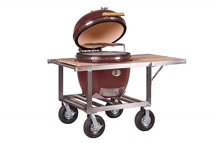 Monolith Le Chef Barbecue Buggy + zijtafel - Rood
