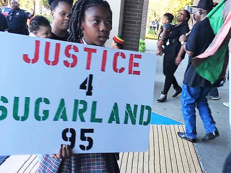 The National Black United Front Rallies to Halt the Removal of the remains of #SugarLand95