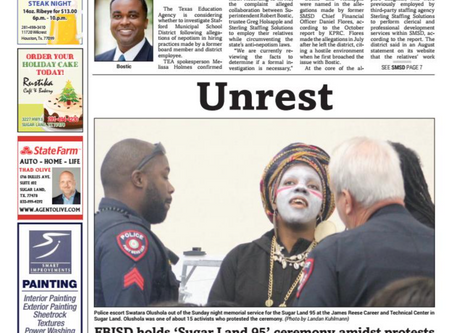 The National Black United Front Protests FBISD's Sham Memorial Ceremony for #SugarLand95