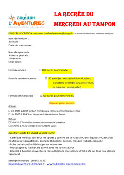 recre tampon  inscription 2021-2022