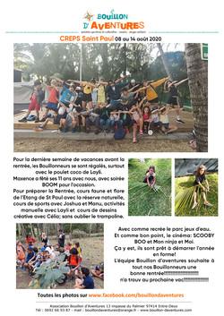 Bouillon Aventures 08 au 14 aout 2020 cr