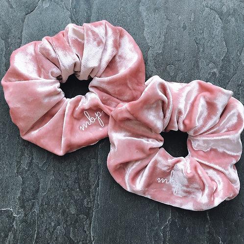 Rose Crushed Velvet Scrunchie