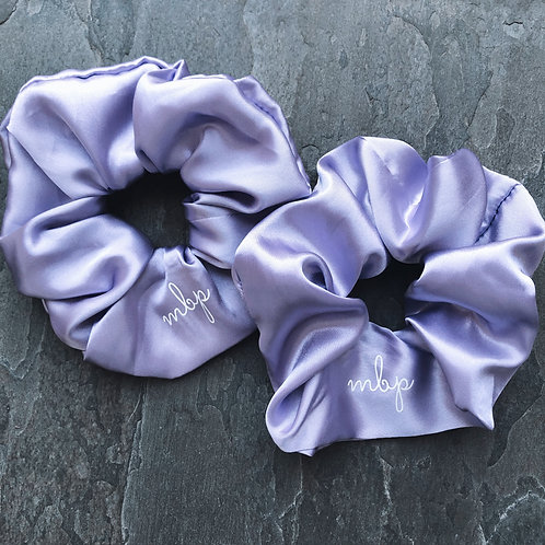Lilac Satin Scrunchie