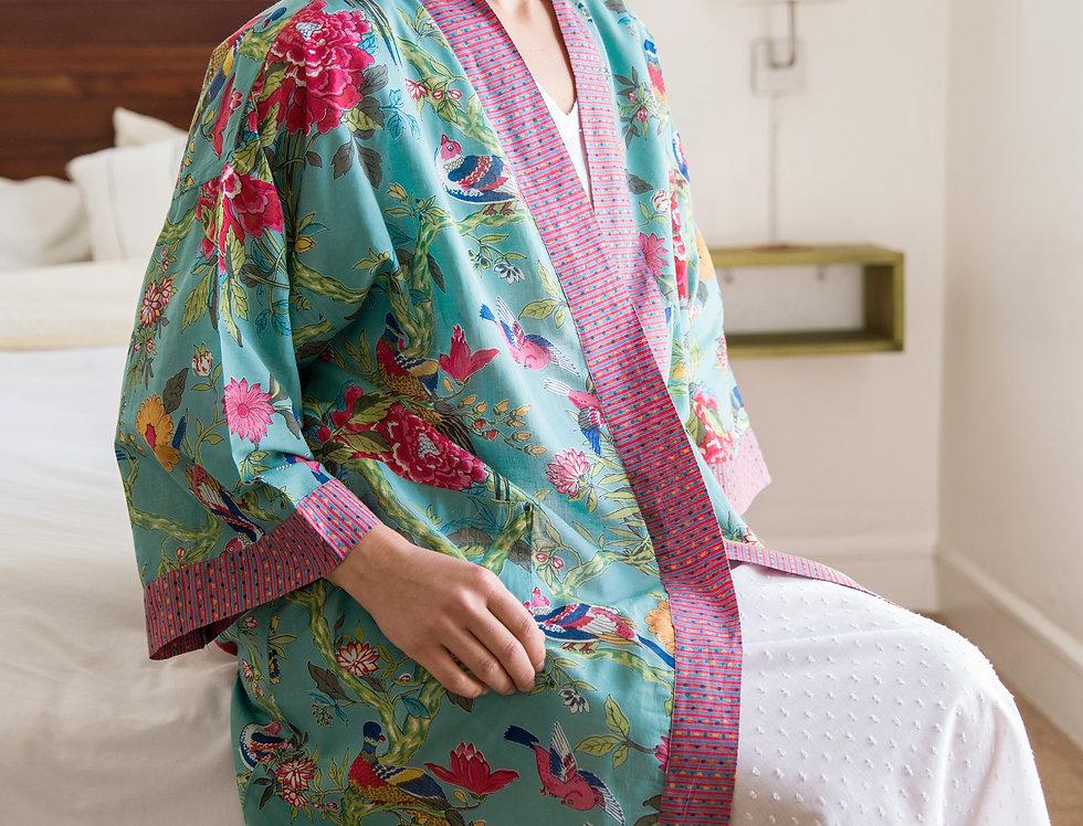 Bird Teal Kimono