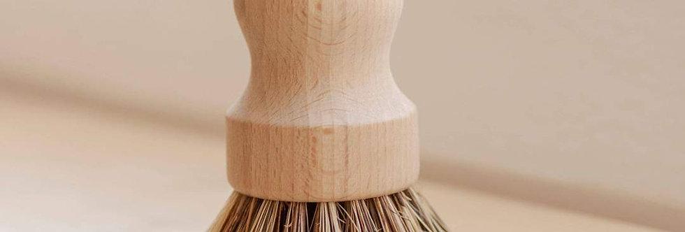 No Tox Life Dish Brush - White Teakwood & Agave