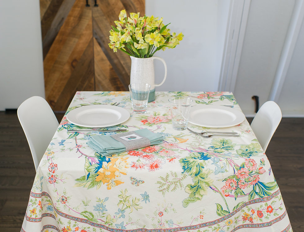French Country Round Tablecloth