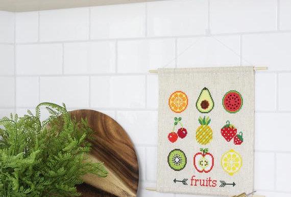 Fruit Sampler Cross Stitch Kit