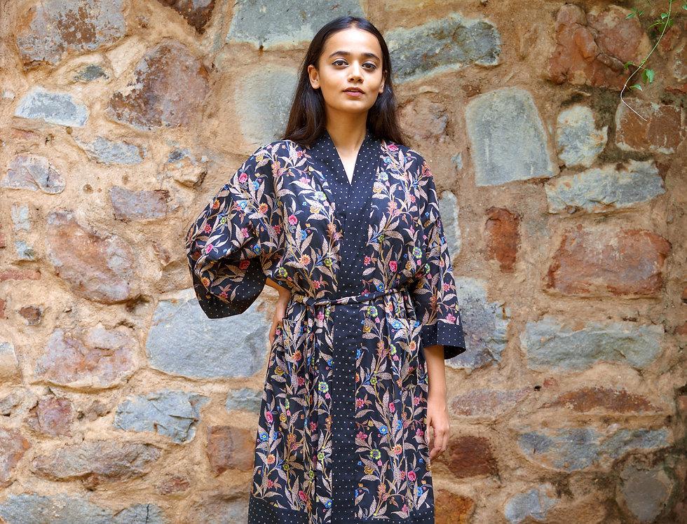 Wildflower Black Kimono