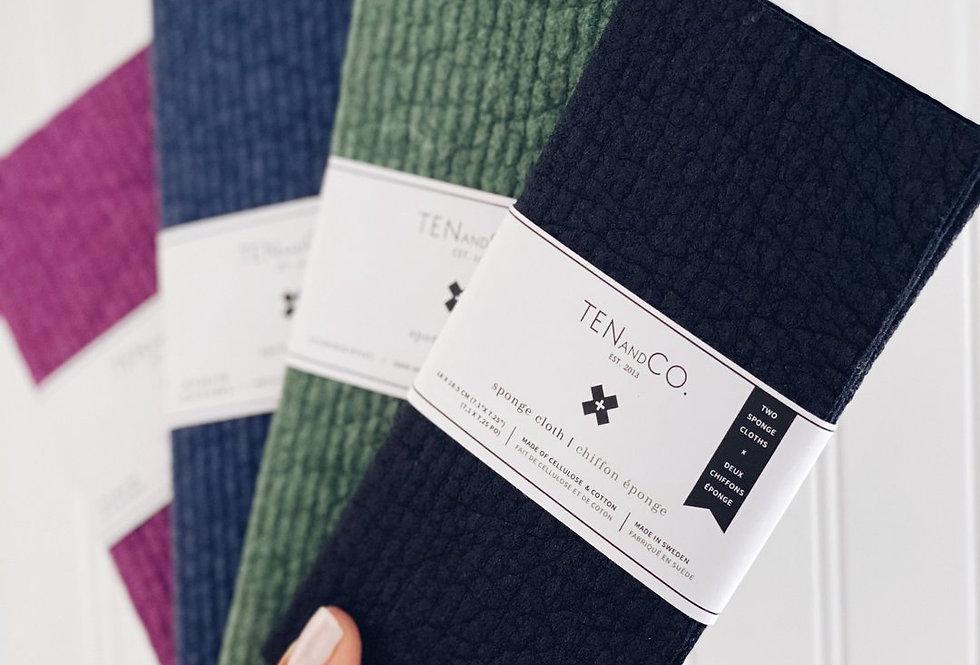 Ten & Co Swedish Sponge Cloth Solid 2-Pack
