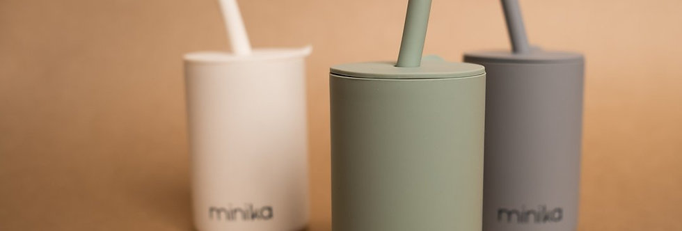 Minika Straw Cup with Lid