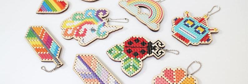 Keychain Cross Stitch Kits