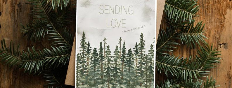 Spruce and Olive Greeting Cards