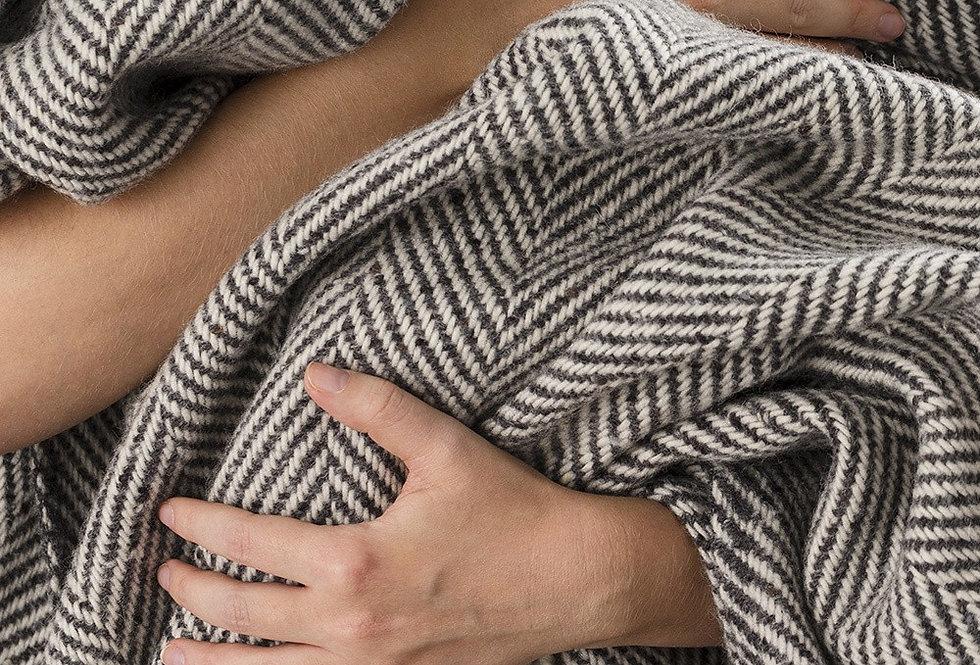 Avoca Herringbone Wool Blanket / Throw