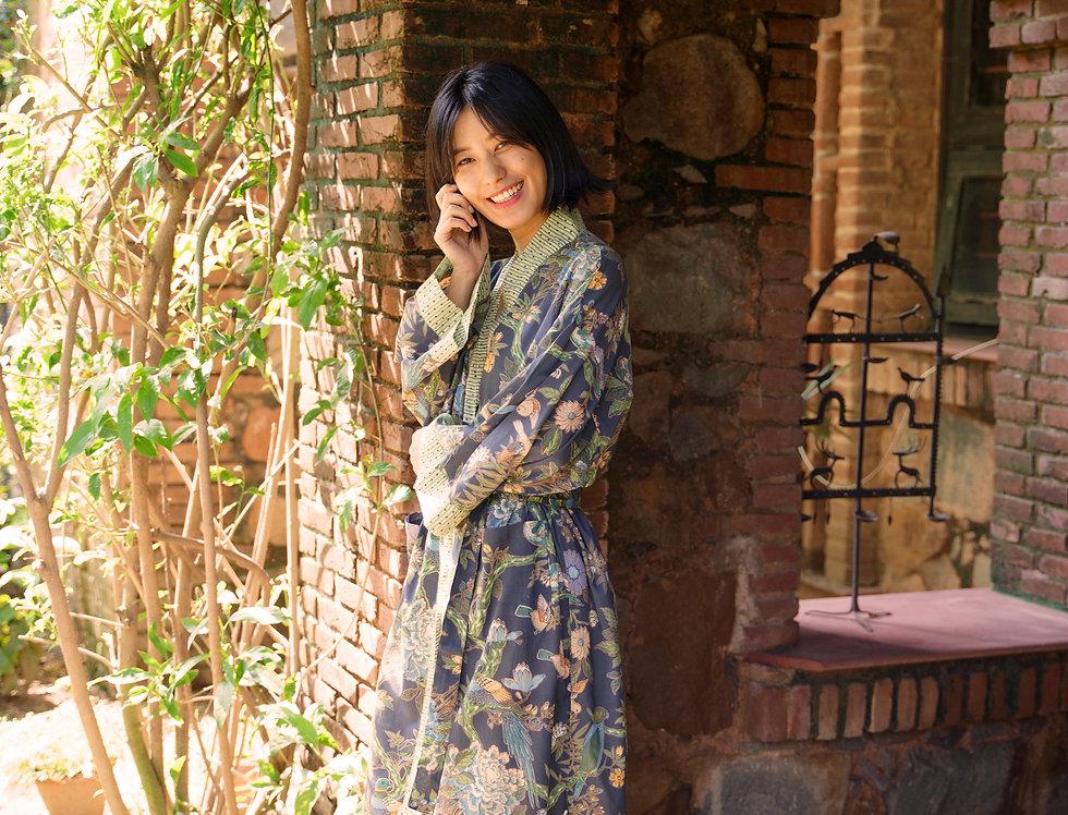 Bird Blue Kimono
