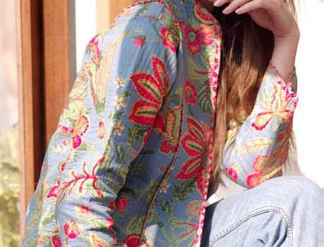 Hawaii Shores Reversible Quilted Jacket
