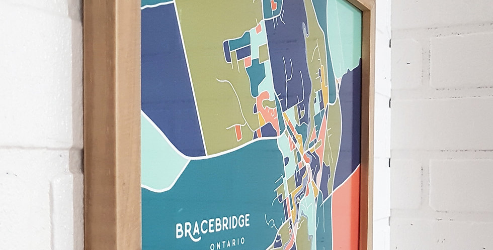 Bracebridge + Gravenhurst Map Prints