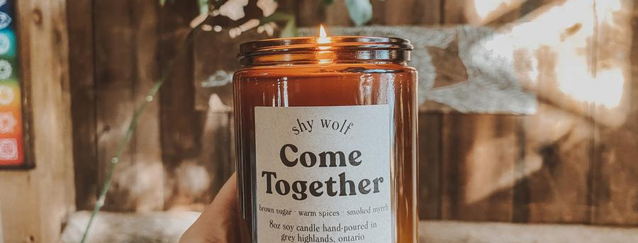 Shy Wolf Candles