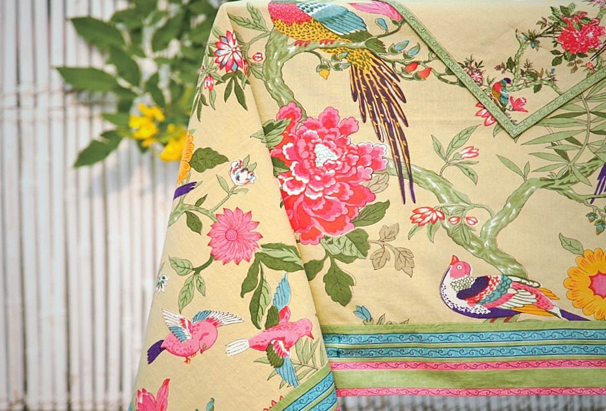 Birds of Paradise Tablecloth