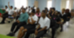 Servol Enhancement session on Business Etiquette conducted by a retiree of Petrotrin, Ms. Patsy Ransome.