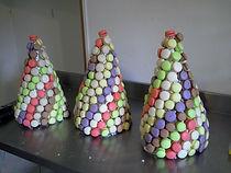 pyramide de macarons mariage , baptême