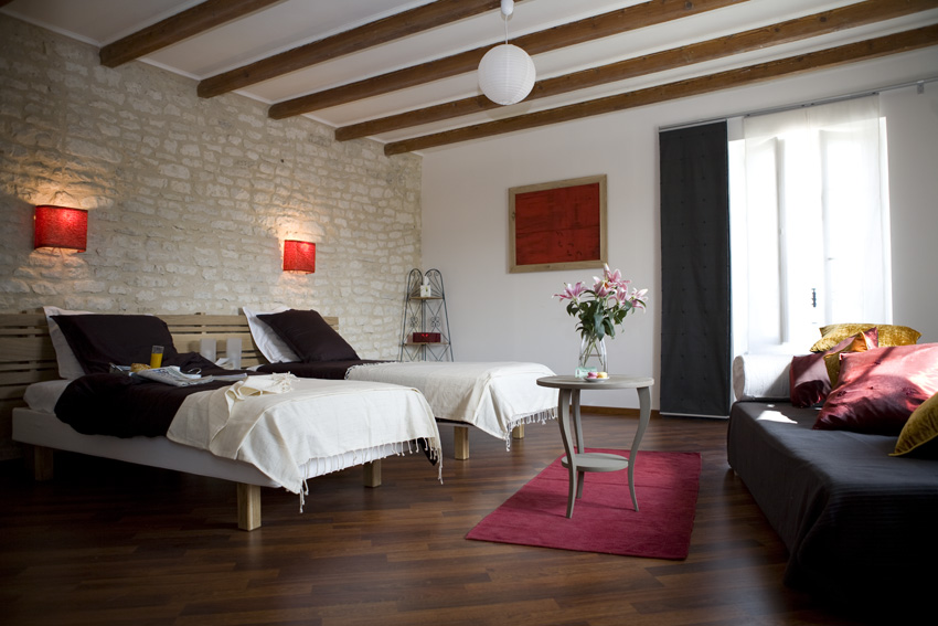 chambre cerise 2 /3 pers