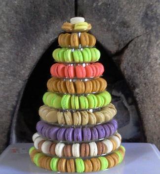macarons pyramide à étages 200 macarons