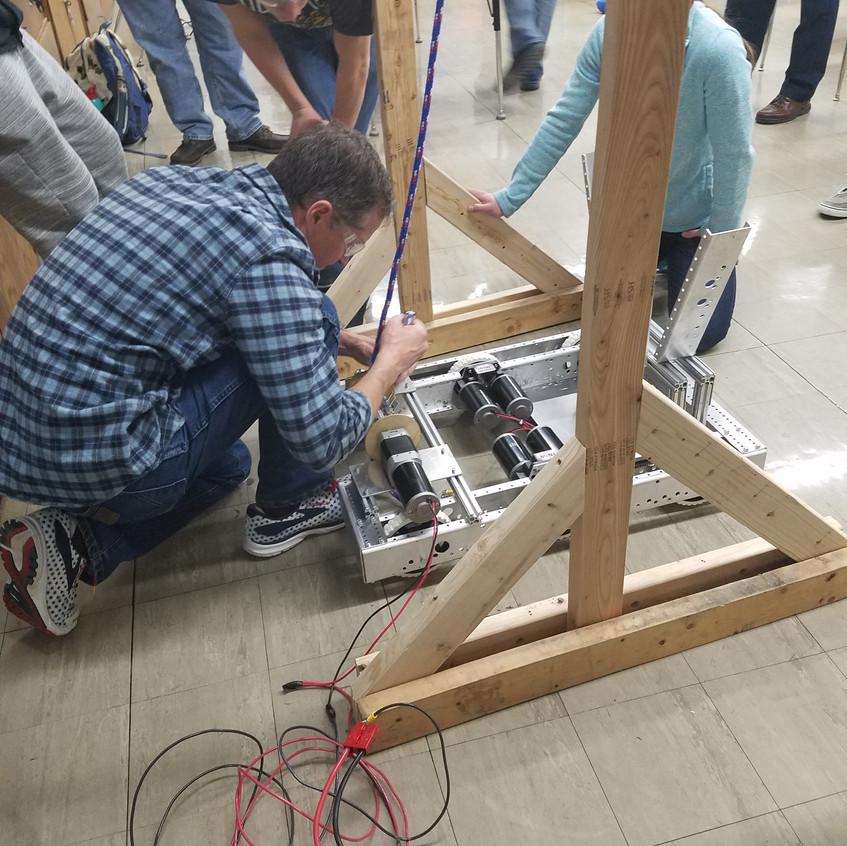 Rope climb test