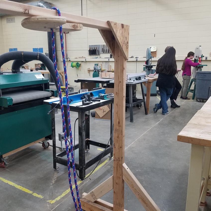 Rope climbing prototype