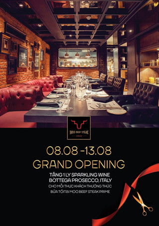 Moo Beef Steak's official grand opening 08/08/2017
