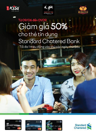 Happy friday with 50% discounts at moo beef steak restaurant for standard chartered bank credit card