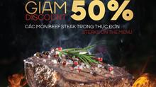 Tưng bừng khai trương nhà hàng Moo Beef Steak thứ 6 giữa Phú Mỹ Hưng giảm 50% các món beef steak tro