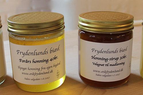Honning: slynget 40kr, presset 60kr, sælges kun fra hjemmeadresse