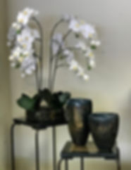 Orchid and Blue Vases