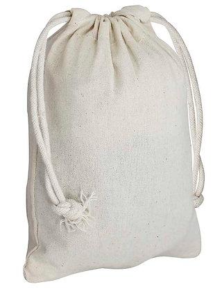 Bolsa saco Chica algodón 14x19