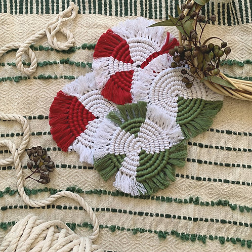 Christmas Coasters - Peppermint Candy