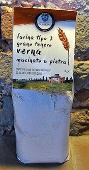Grano tenero Verna - farina tipo 2 (1 kg)