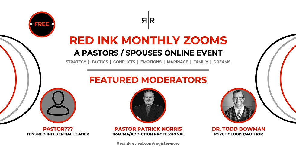 PASTORS / SPOUSES – RED INK MONTHLY ZOOMS