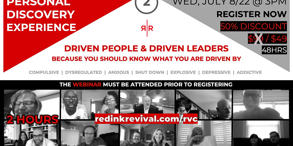 PERSONAL DISCOVERY EXPERIENCE | July Pastor Cohort