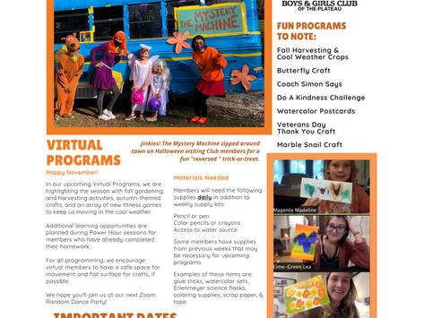 Club Hub Print Newsletter: Nov. 4th Edition