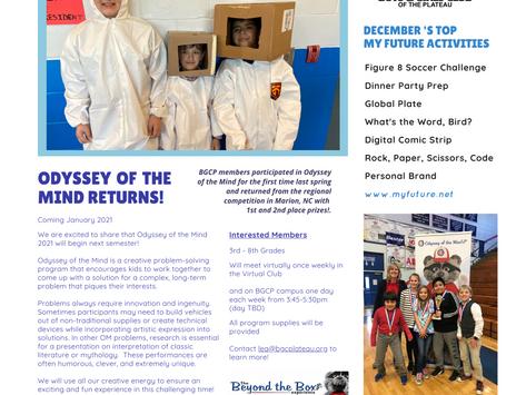 Club Hub Print Newsletter: December 7th, 2020