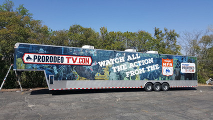 Pro Rodeo TV Trailer Wrap