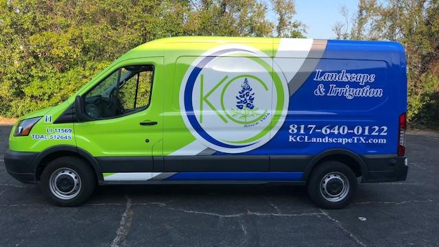 KC Landscape Fleet Van Wrap